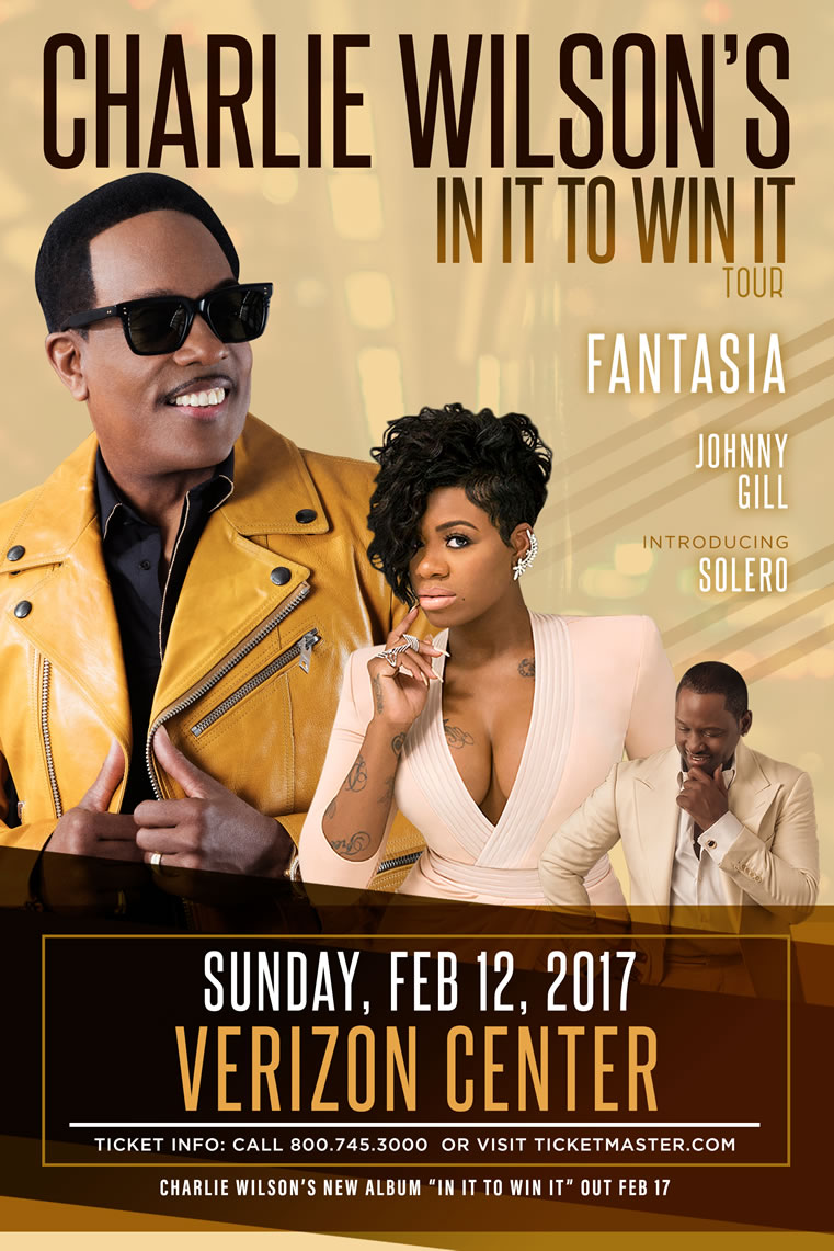 CHARLIE WILSON - Forever Charlie Tour -  Performing Live at The Verizon Center, with special Guests KEM & JOE